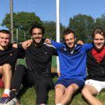 Jonathan Berling, Daniel Izadifar, Joakim Karlsson og Fredrik Øyan Moe etter viktig borteseier mot Stavanger